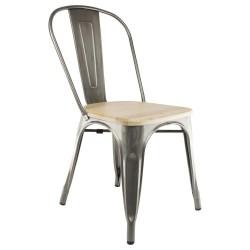 Tolix A Stuhl mit Holz