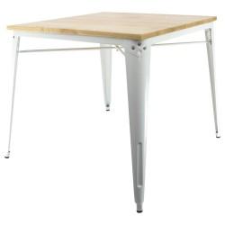 Tisch Industrie Design mit Holzplatte