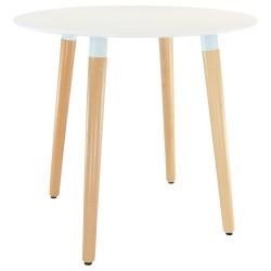 Runder Tisch in Weiß