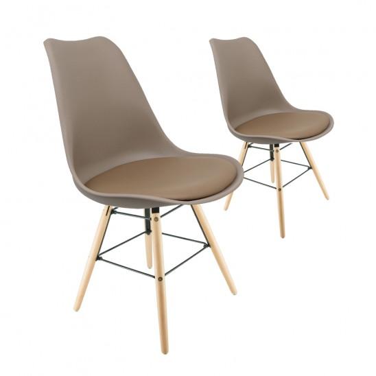 Set mit 2x DSW Tulipe Stühlen