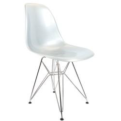 Silberner DSR Stuhl